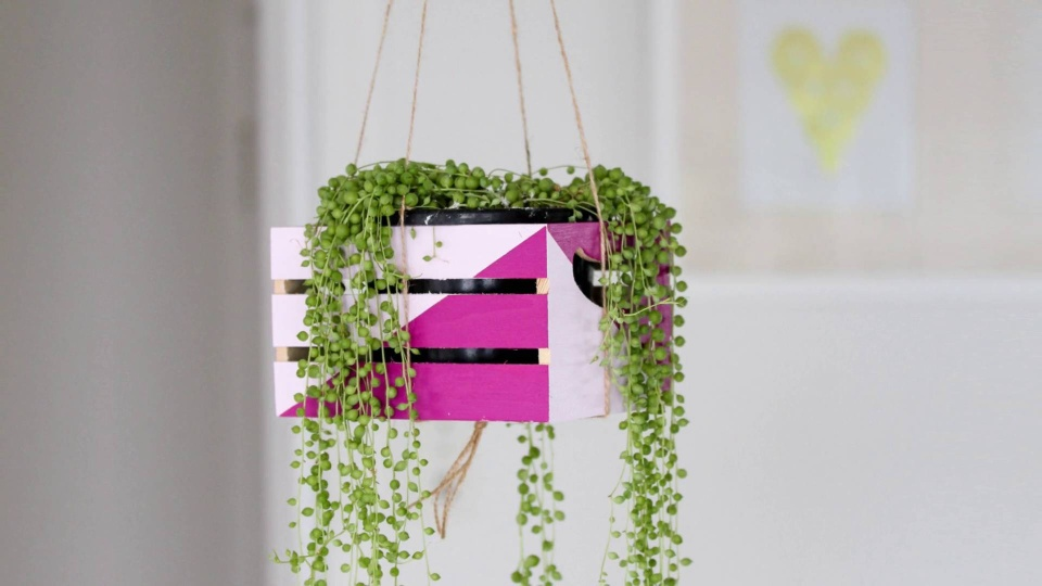 Create a hanging plant holder