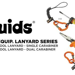 Ergodyne Product Video - Squids<sup>®</sup> 3166 Coil Tool Lanyard with Dual Carabiners - 2lbs / 0.9kg