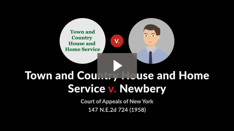 Town & Country House & Home Service, Inc. v. Newbery