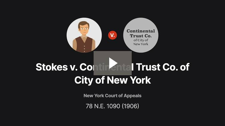 Stokes v. Continental Trust Co. of City of New York