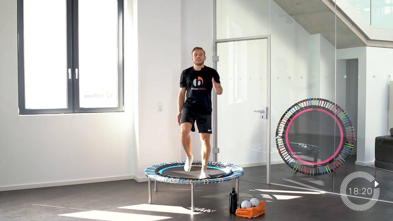 abnehmen für einsteiger 5 | mini trampolin training video | bellicon home  bellicon home