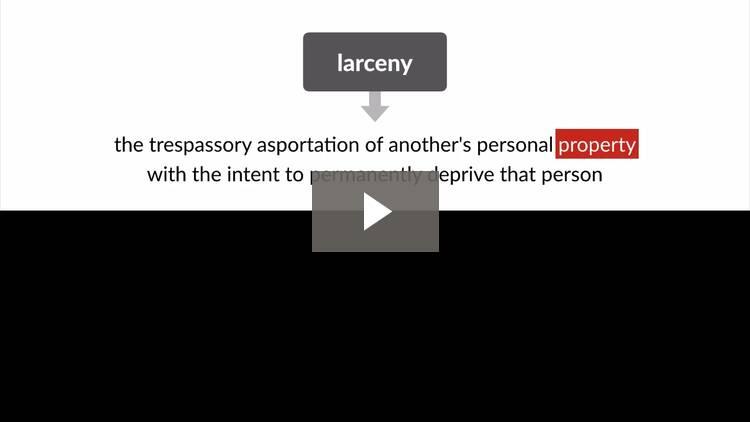 Theft: Larceny