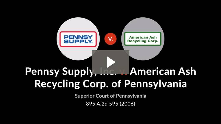 Pennsy Supply, Inc. v. American Ash Recycling Corp. of Pennsylvania