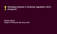 Still image from 'Emerging themes in financial regulation 2013' video