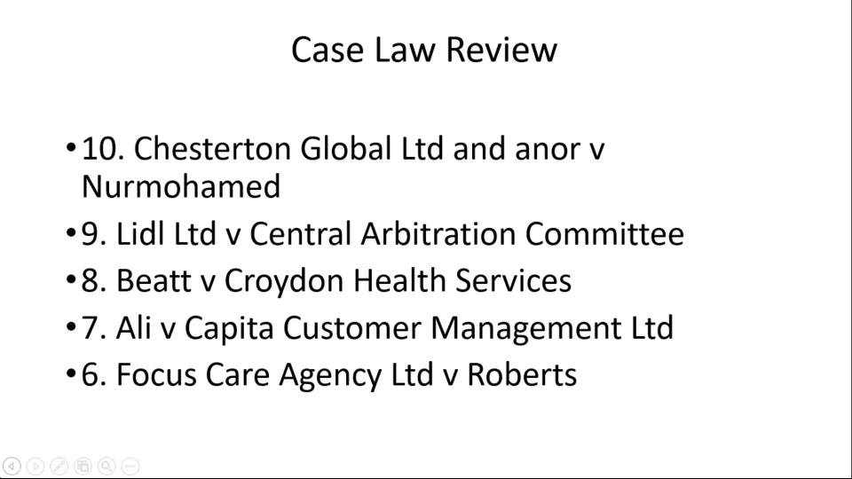 Review Of Important Employment Case Law Decisions From 2017