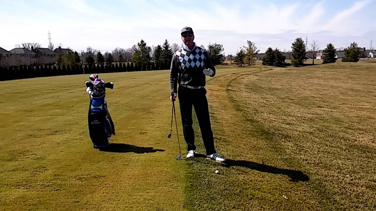Club Selection When Hitting from Downhill Lie