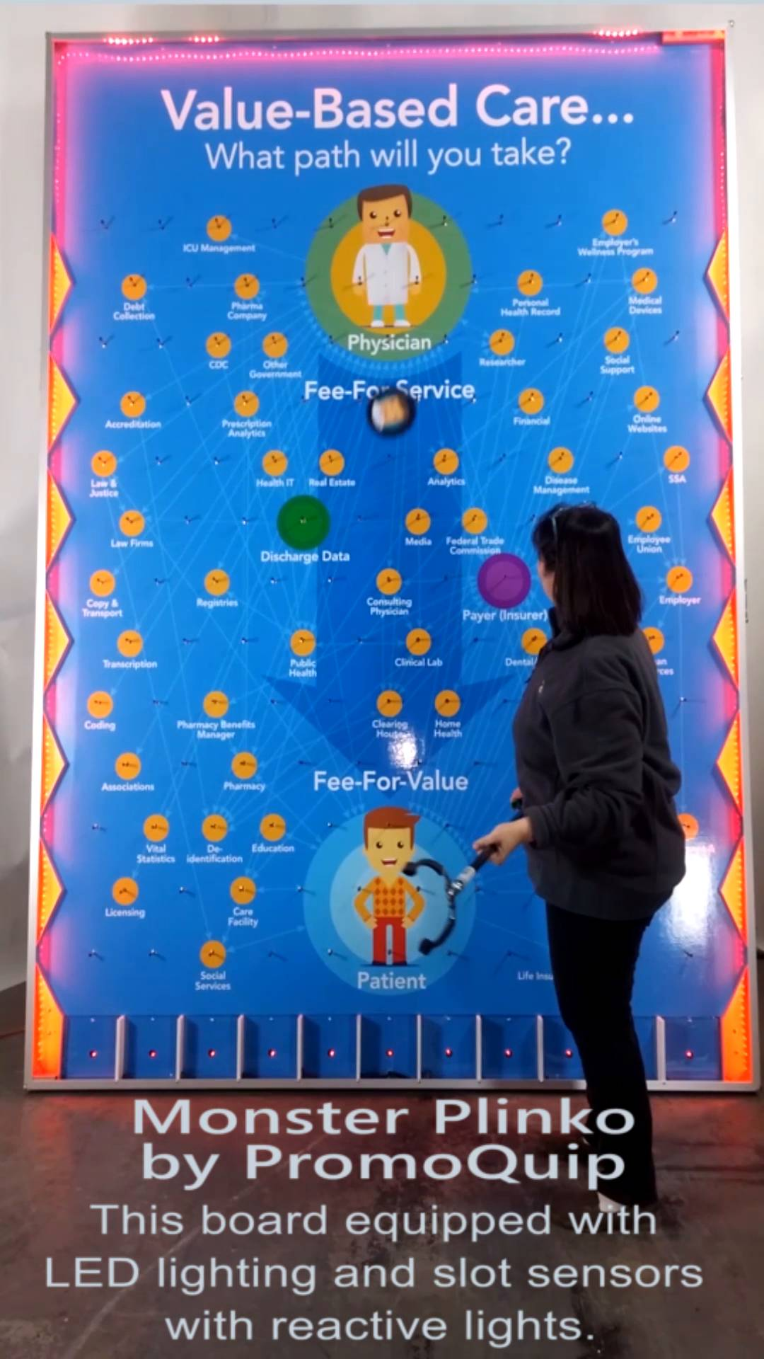 Deluxe LED Lighting for your monster plinko game board dramatically draws attention to your trade show booth etc. & Deluxe LED Lighting for your monster plinko game board dramatically ...