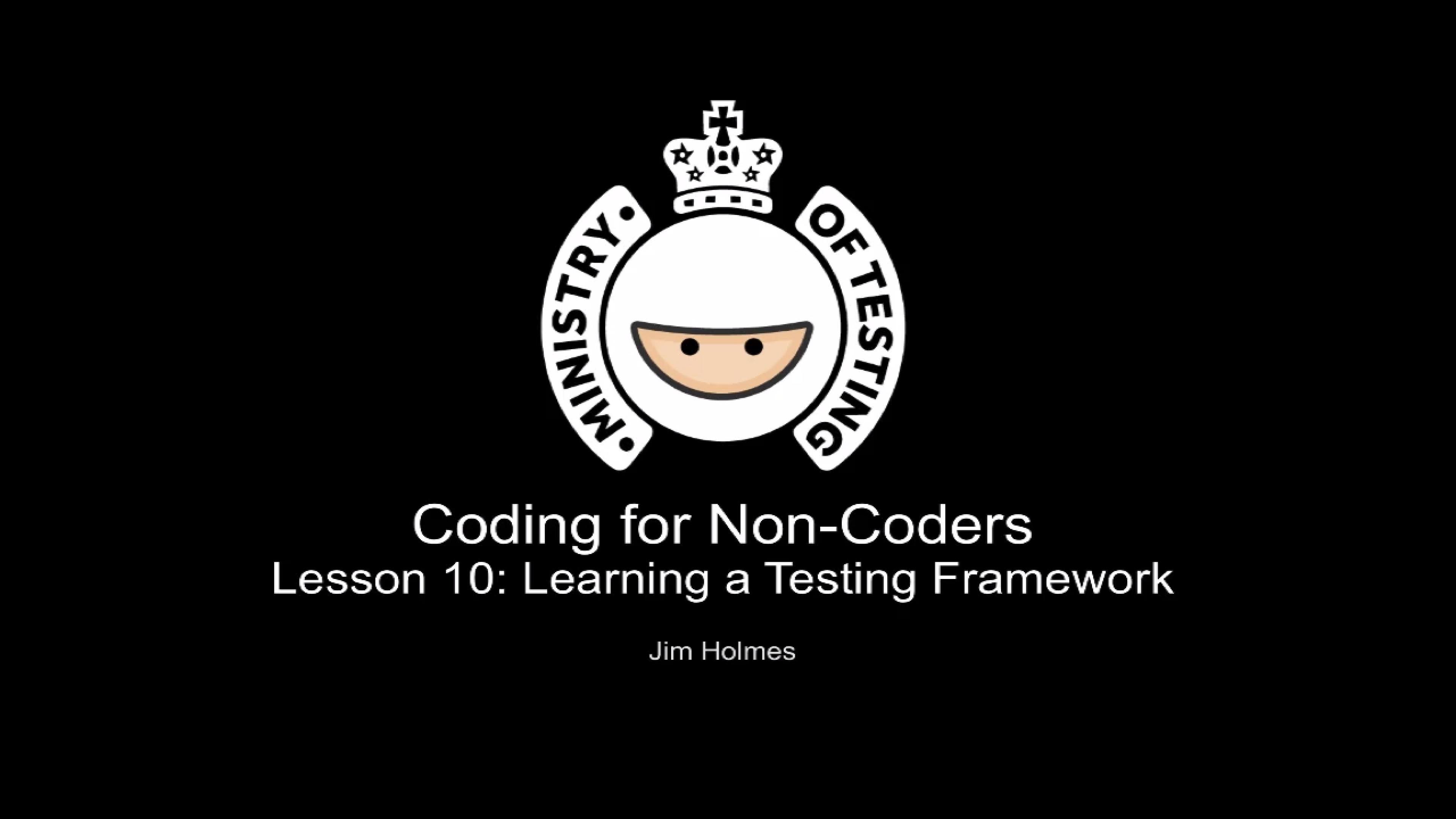 Learning A Testing Framework
