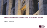 Still image from 'Implications of SMR & SIMR for banks and insurers' video
