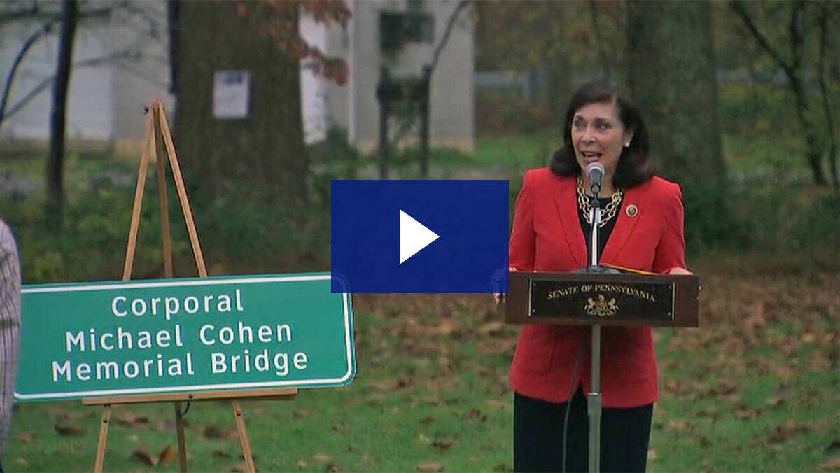 10/24/20 - Corporal Michael Cohen Memorial Bridge Dedication Ceremony