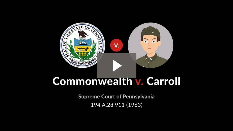 Commonwealth v. Carroll