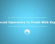 Advanced Operators in Fresh Web Explorer