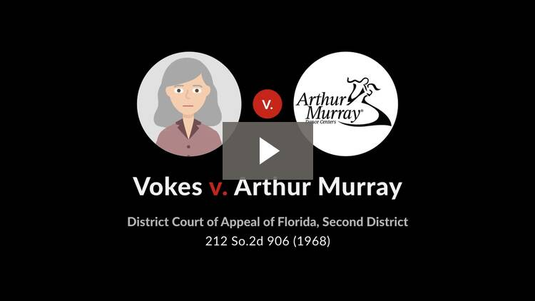 Vokes v. Arthur Murray, Inc.