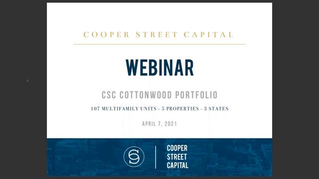 Investment Video - CSC Cottonwood Portfolio