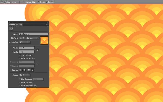 O novo painel Pattern Options em detalhes
