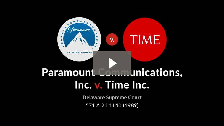 Paramount Communications, Inc. v. Time Incorporated