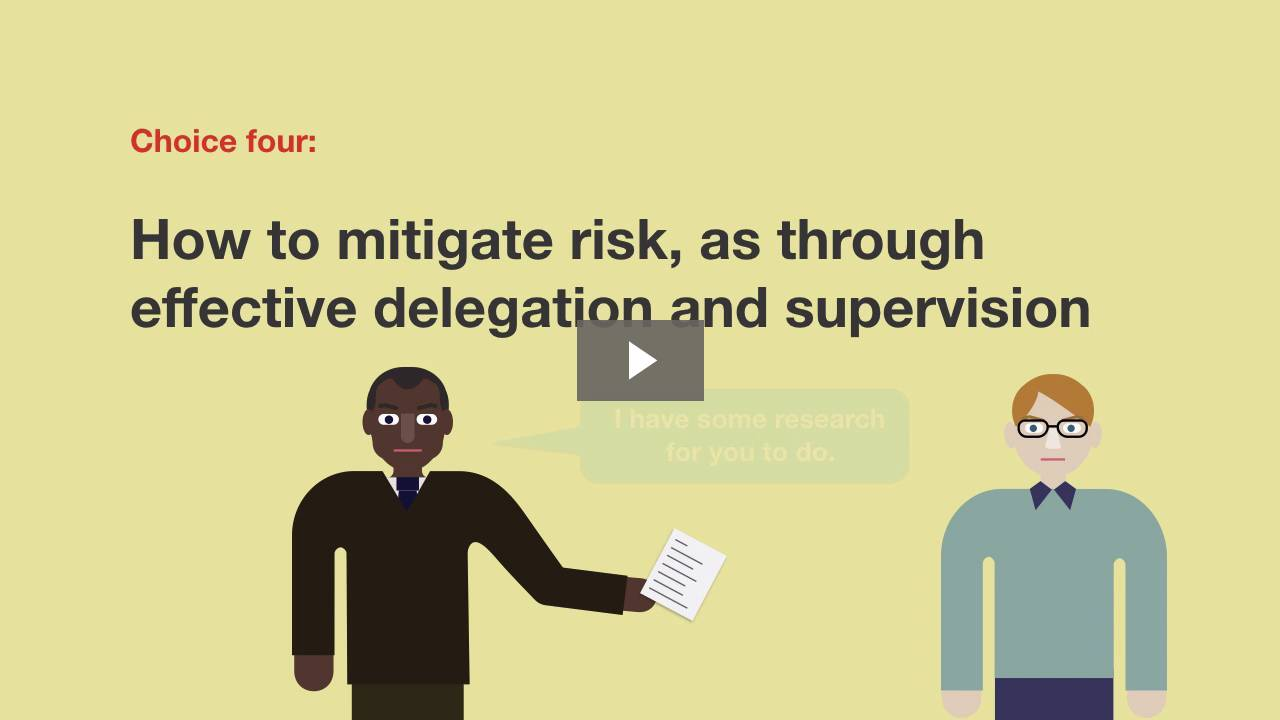 Delegation and Risk