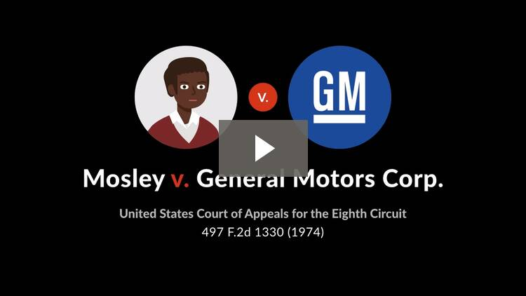 Mosley v. General Motors Corp.