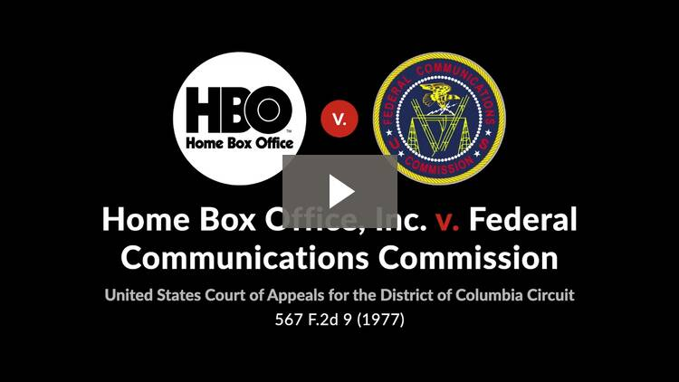 Home Box Office, Inc. v. Federal Communications Commission