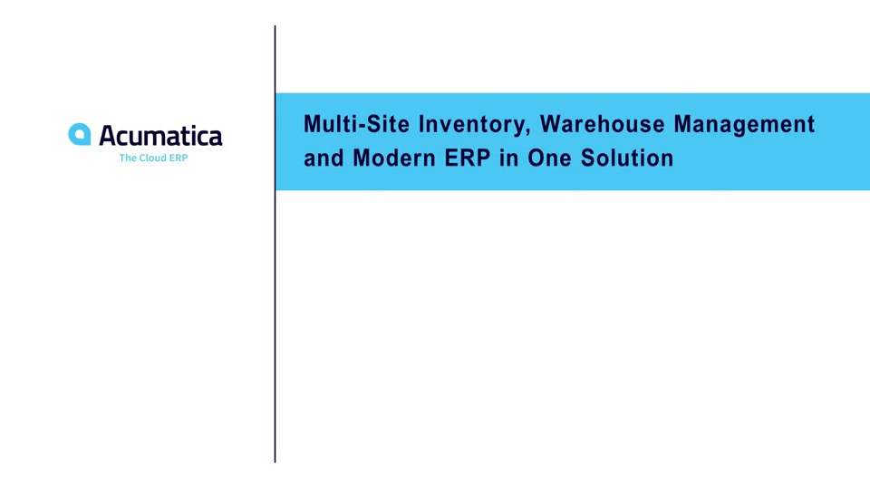Multi-Site Inventory, Warehouse Management and Modern ERP in One Solution
