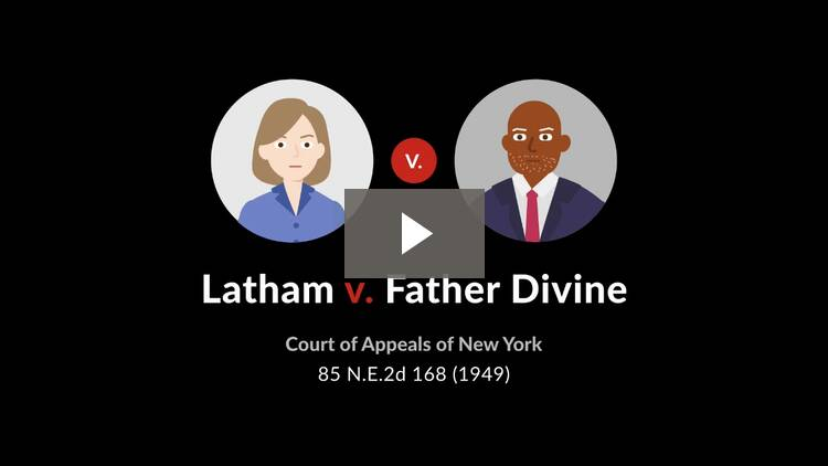 Latham v. Father Divine