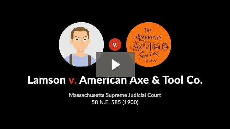 Lamson v. American Axe & Tool Co.