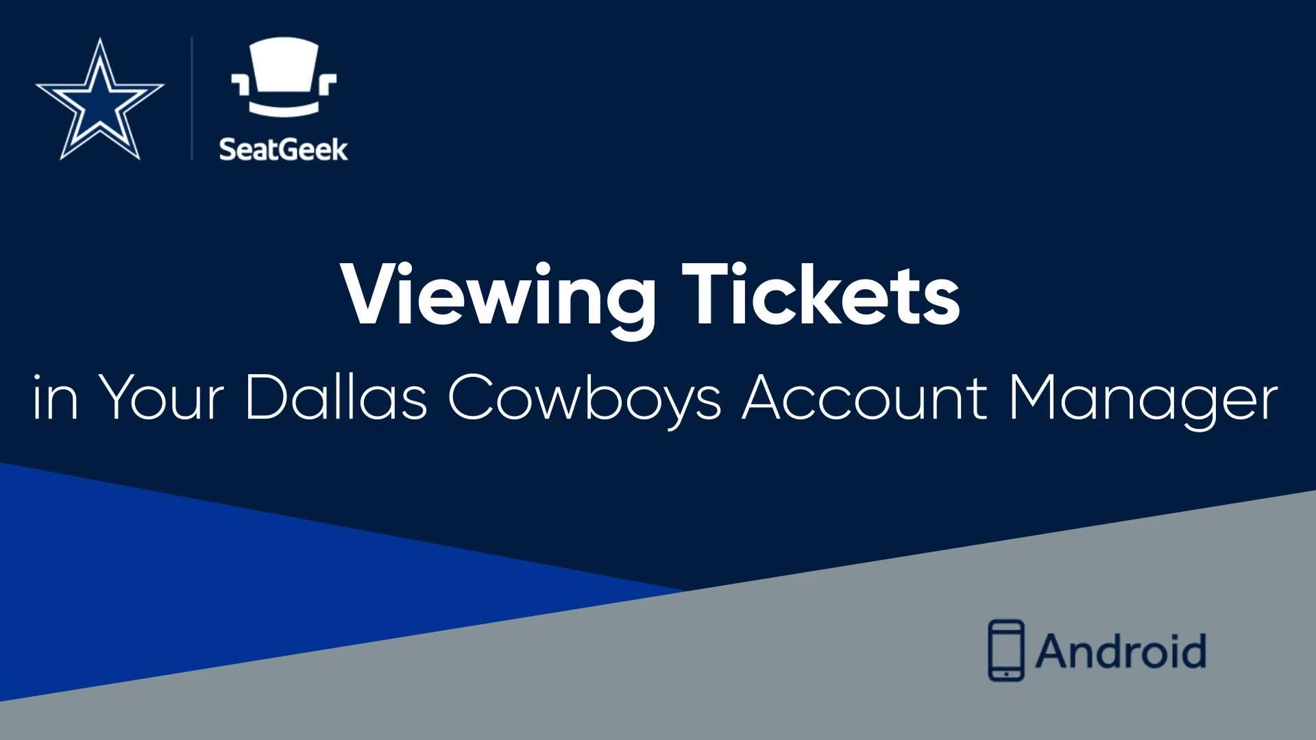 Dallas cowboys account manager