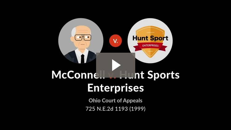 McConnell v. Hunt Sports Enterprises