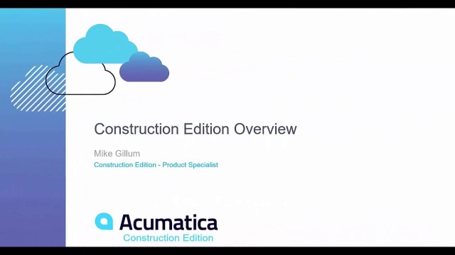 Overview of Acumatica Construction Edition