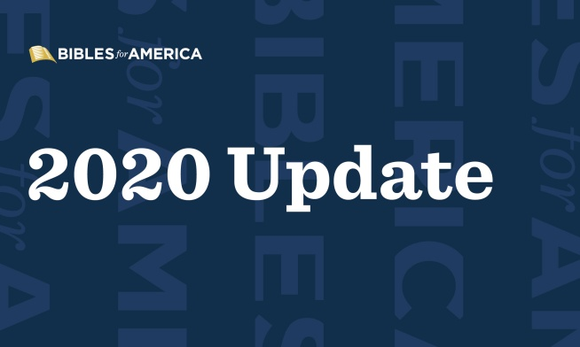 Update: Bibles for America in 2020