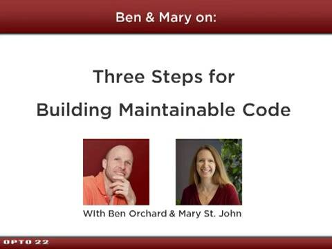 Three Steps for Building Maintainable Code