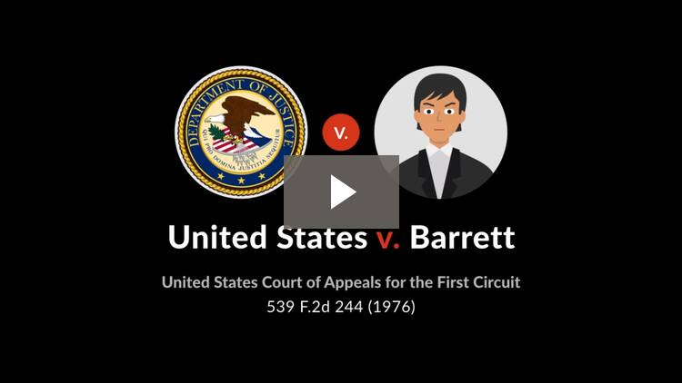 United States v. Barrett