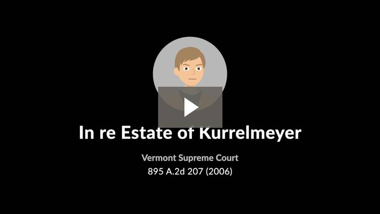In re Estate of Kurrelmeyer
