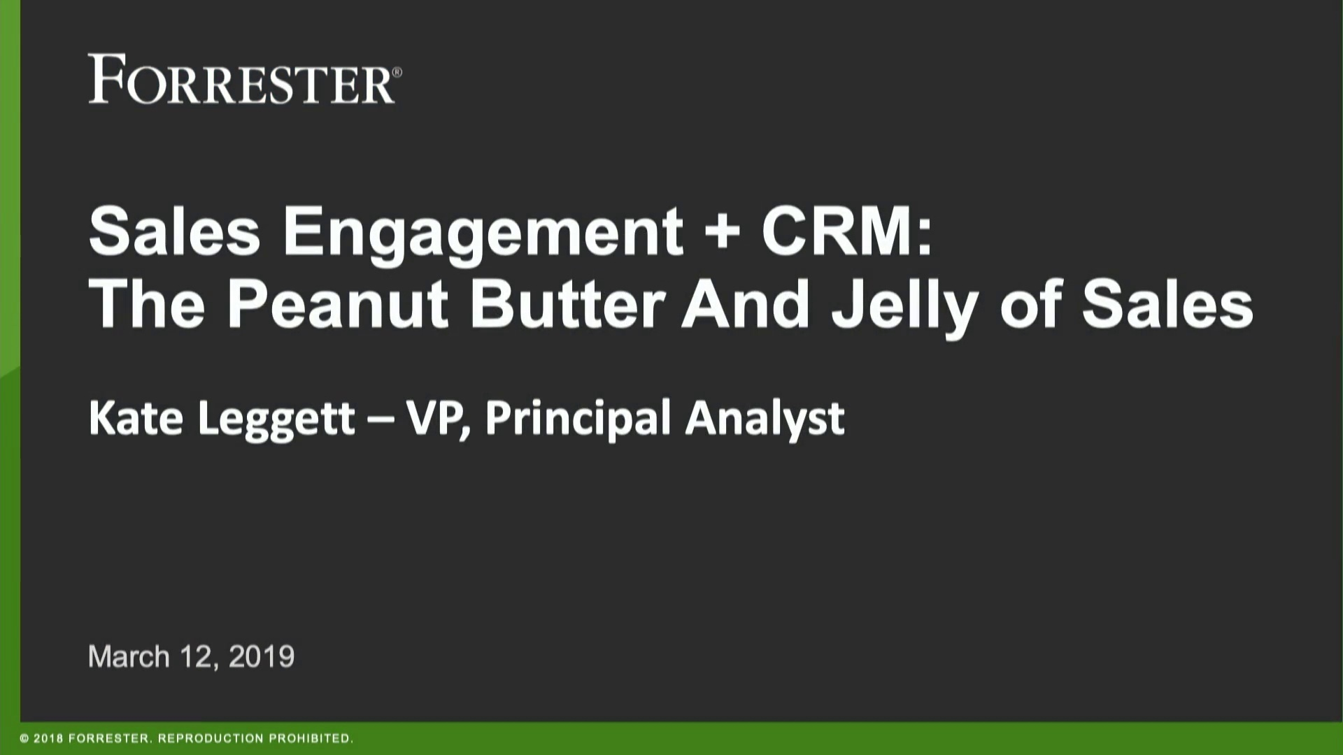 Sales Engagement Platforms Drive Retention and Revenue, How to Make it Work with CRM - Kate Leggett