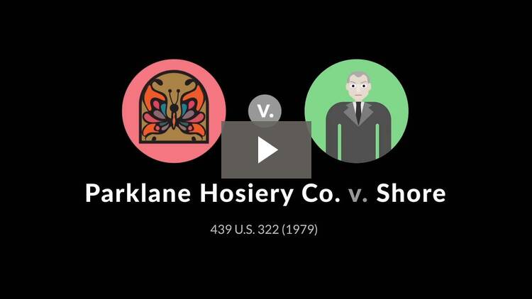 Parklane Hosiery Co. v. Shore