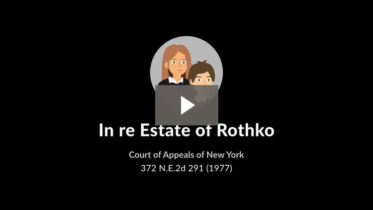 In re Estate of Rothko
