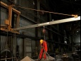 Wall Traveling Fold-Away Fall Protection System - Steel Mill Application