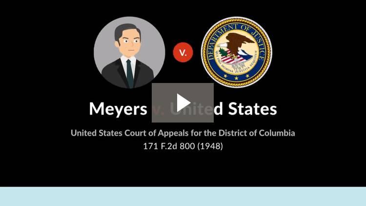 Meyers v. United States