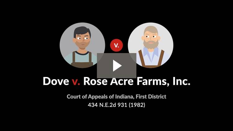 Dove v. Rose Acre Farms, Inc.