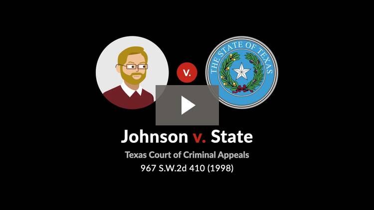Johnson v. State