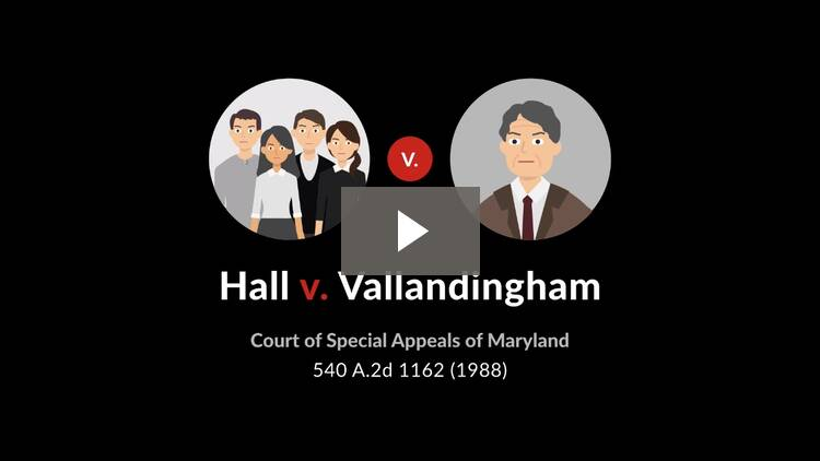 Hall v. Vallandingham