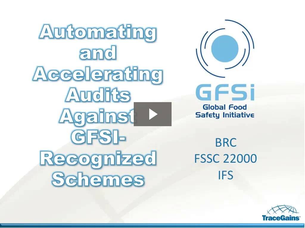 Easing Compliance with GFSI Schemes