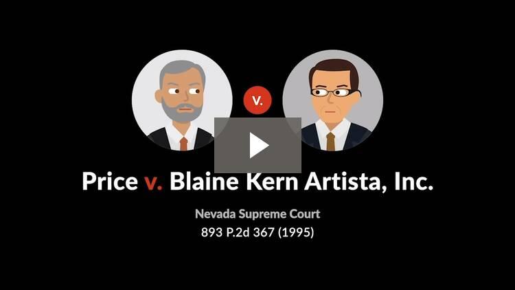 Price v. Blaine Kern Artista, Inc.