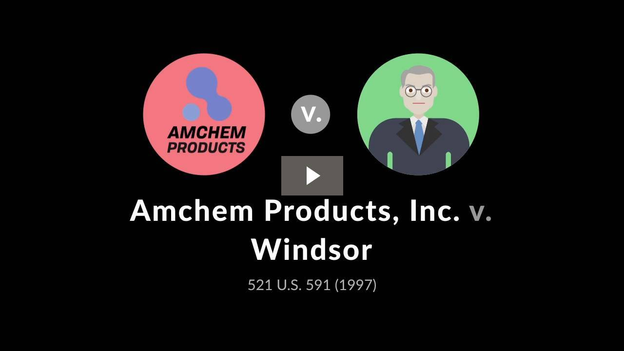 Amchem Products, Inc. v. Windsor