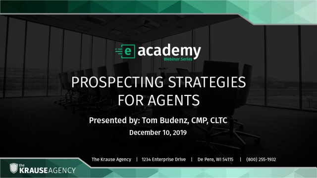 Prospecting Strategies for Agents