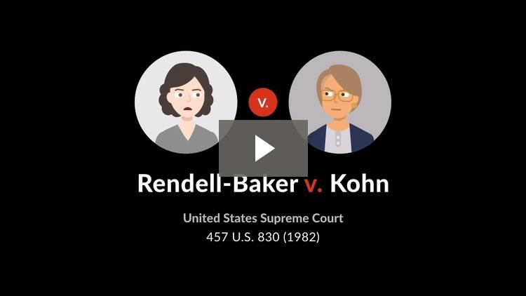 Rendell-Baker v. Kohn