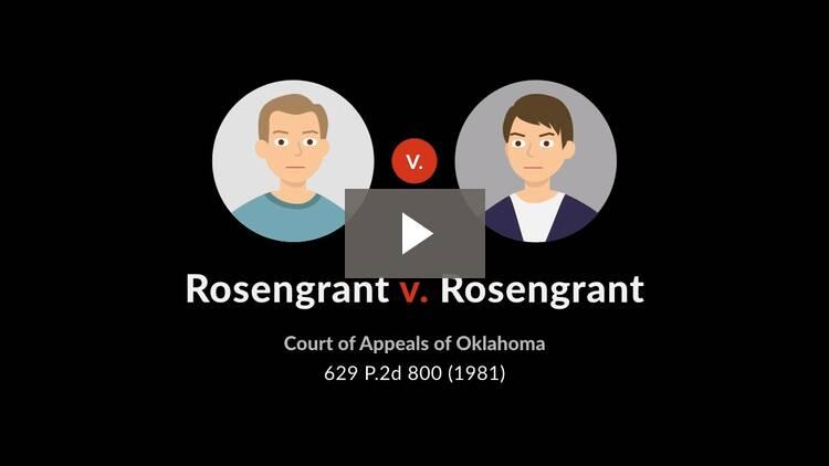 Rosengrant v. Rosengrant