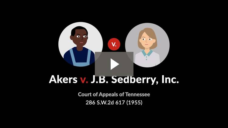 Akers v. J.B. Sedberry, Inc.