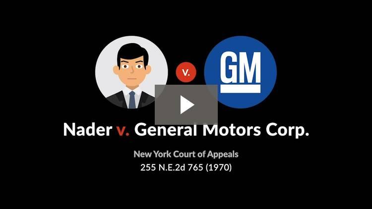 Nader v. General Motors Corp.