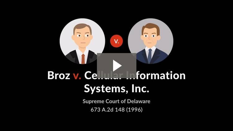 Broz v. Cellular Information Systems, Inc.